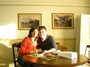 David and Katya at a bakery