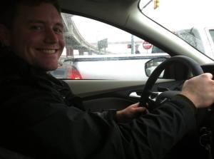 David driving