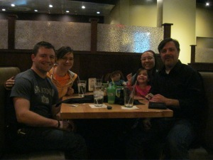 We went out for sushi with David's big sister and her family!