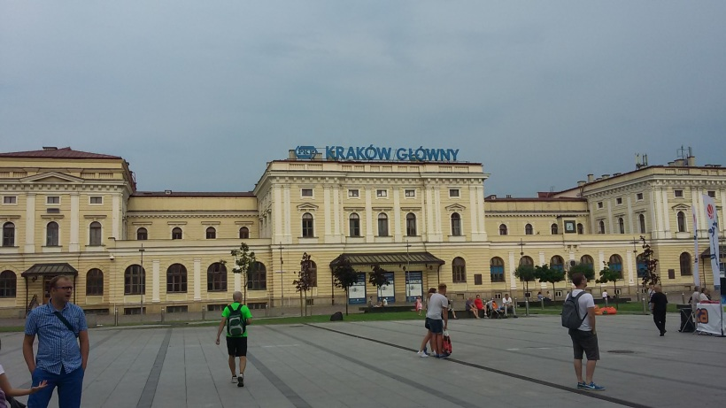 The main trainstation in Krakow...