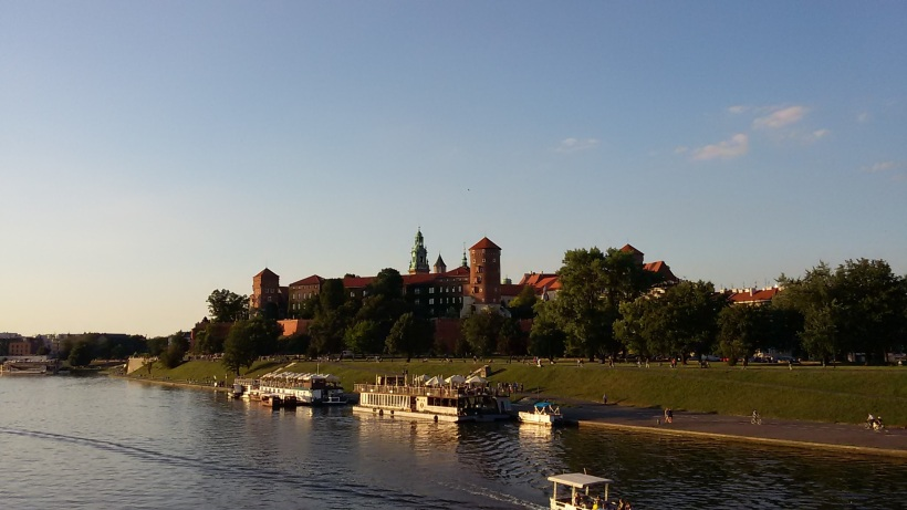 """Vavel"" Castle (spelled ""Wawel"" in Polish, because the ""W"" makes a ""V"" sound) in Krakow..."