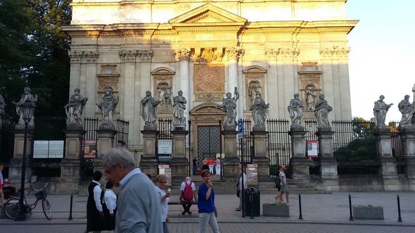 One of the churches downtown Krakow...