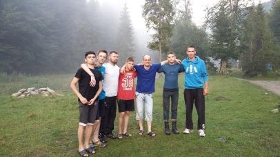 David's small group at summer camp