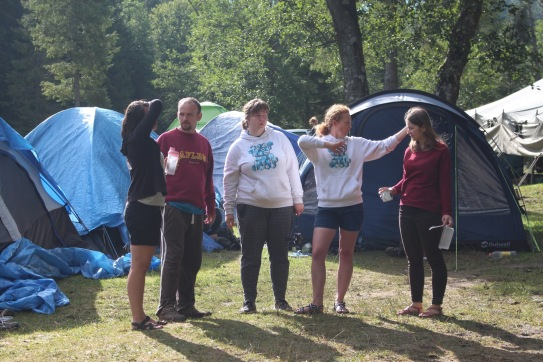 We had a team from the Czech Republic (and more leaky tents behind them)