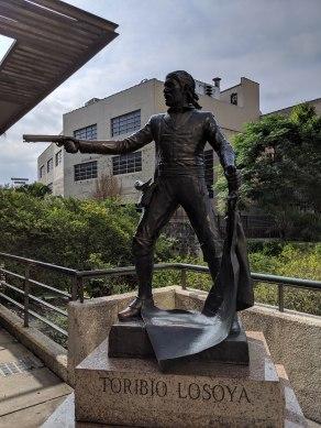 A statue near the Alamo