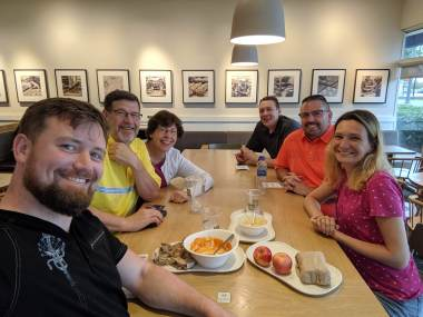 Lunch with a church from NC that has visited Ukraine