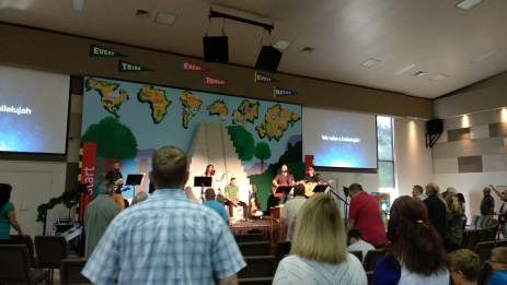 Church on Sunday in Indy (they're having VBS this week)