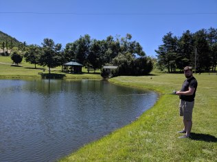 Fishing in Virginia with Justin's family