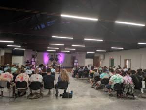 David preaching at youth camp
