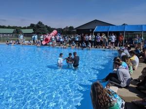 Baptism at youth camp