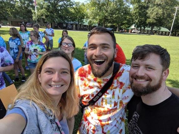 David and Katya with Brett, the youth pastor at Horizon Indy