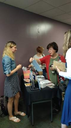 Katya manning our missions table at Horizon Indy