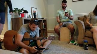 Jordan and Brett at home fellowship getting songs ready for worship (David got to share at this h/f)